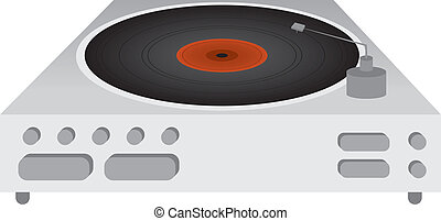 Record Player with spinning record