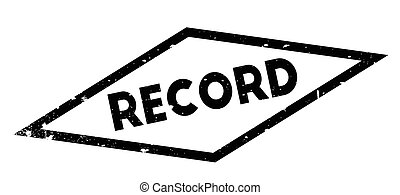 Record rubber stamp
