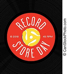 Record Store Day Badge or Emblem Vector Design.