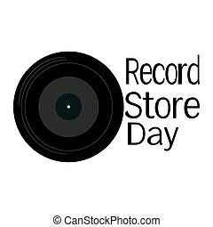 Record Store Day, music record for poster or postcard