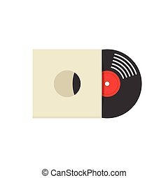 Record vinyl album cover vector illustration isolated