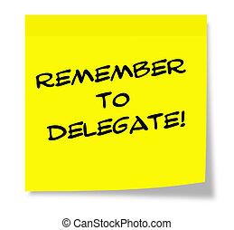 recordar, delegado