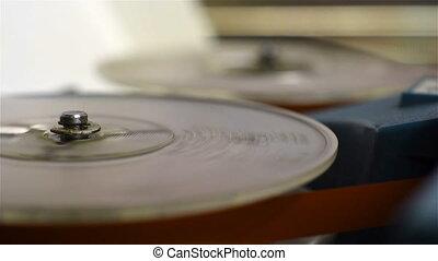 recorder., audio, bobine, retro