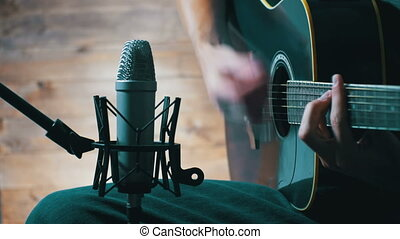 Recording Acoustic Guitar In The Studio - Recording Acoustic...