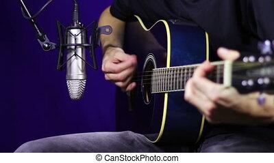Recording Acoustic Guitar in the Studio.
