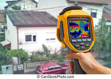 Recording Buildings With Thermal Camera