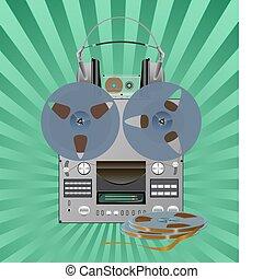 Recording equipment. - Different recording equipment is...