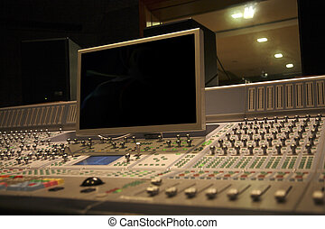 recording equipment  in the recording room