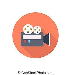 recording flat color icon