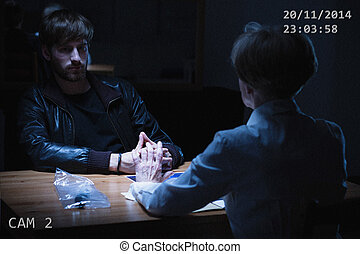 Recording from interrogation - Image of recording from...