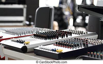 Recording Mixer - close up