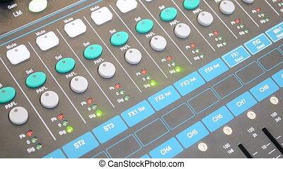 recording studio, control panel - audio control panel,...