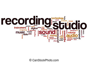 Recording studio word cloud