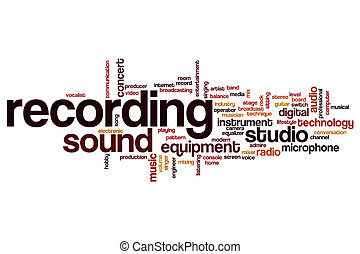 Recording word cloud