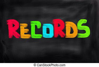 Records Concept