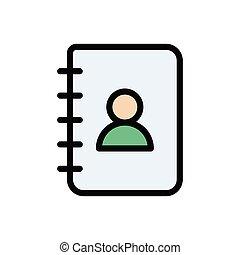 records flat color icon