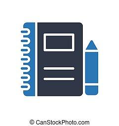 records glyph color icon