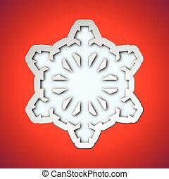 recortar, copo de nieve, navidad