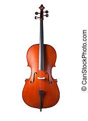 recorte, aislado, fondo., trayectoria, violín, blanco