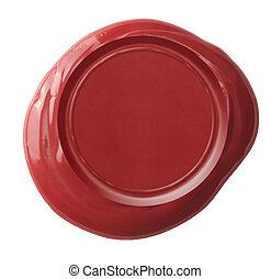 Recorte, cera, aislado, sello,  included, Trayectoria, blanco, rojo