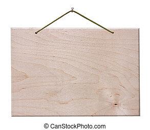 recorte, de madera, signboard, -, aislado, trayectoria