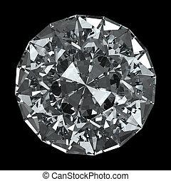 Recorte, diamante,  -, aislado, negro, Plano de fondo, Trayectoria, redondo