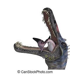 recorte, dinosaurio, encima, interpretación, suchominus.,...