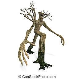 recorte, encima, -, forest., interpretación, ent, guardián, ...