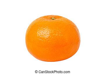 recorte, maduro, aislado, naranja, trayectoria, blanco