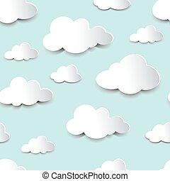 recorte, nubes,  seamless