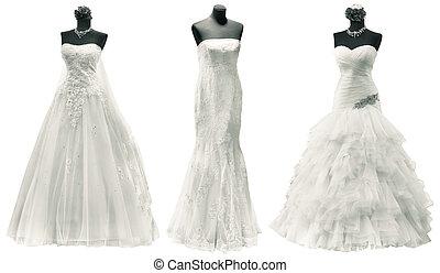 recorte, vestidos, boda