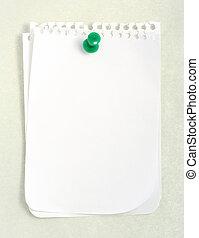 recorte, (with, papel cuaderno, blanco, path)