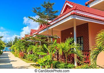 recourir hôtel, bungalow, maison