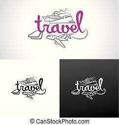 recours, agence voyage, logo