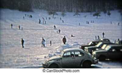 recours, arriver en voiture, ski, droit, 1975: