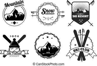 recours, emblèmes, ski