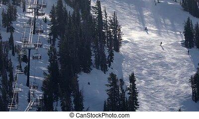 recours, hiver, ski