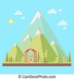 recours montagne, illustration
