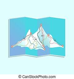recours, ski, carte