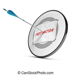 Recover Motivation, Be Motivated - One arrow hits the center...