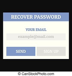 Recover password icon, flat style - Recover password icon....