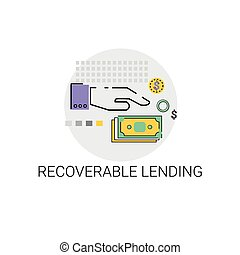 Recoverable Lending Business Funding Concept Icon Vector...