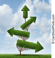 Recovery And Success - Recovery and success business concept...