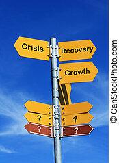 recovery?, crise, ou