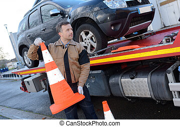 Recovery driver holding bollard