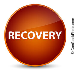 Recovery elegant brown round button