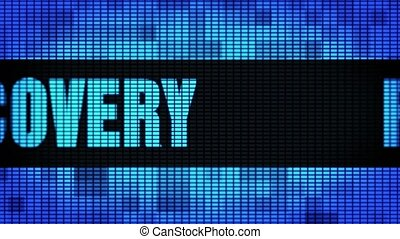 Recovery Front Text Scrolling LED Wall Pannel Display Sign...