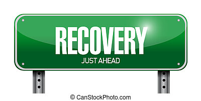 recovery road sign illustration design