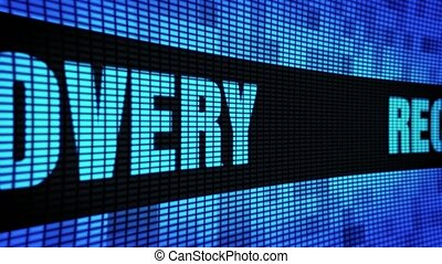 Recovery Side Text Scrolling LED Wall Pannel Display Sign...