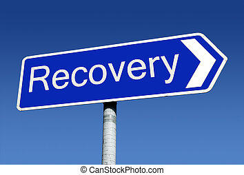 Recovery signpost. - Signpost along the road to recovery.